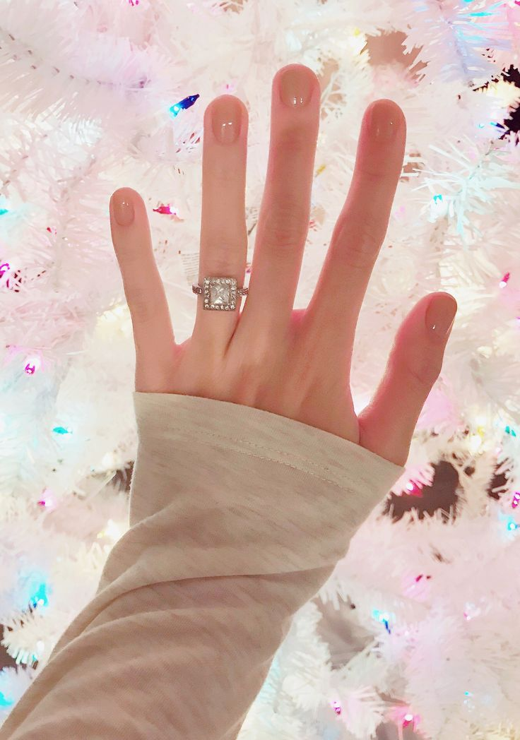All I want for Christmas is you // Square cut diamond ring with halo // The first steps you should take after getting engaged - A Short Engagement