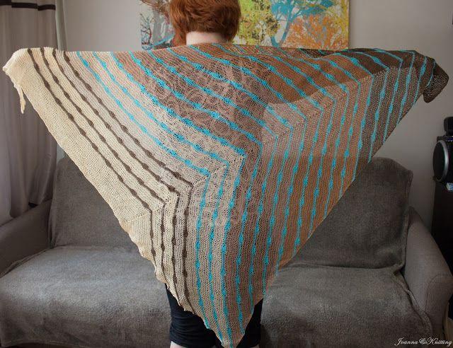 Joanna&Knitting: Chusta latawiec z lnu