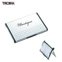 Mr. Slowhand, by Troika. Aluminum Business Card Case with hydrodynamic opening mechanism.