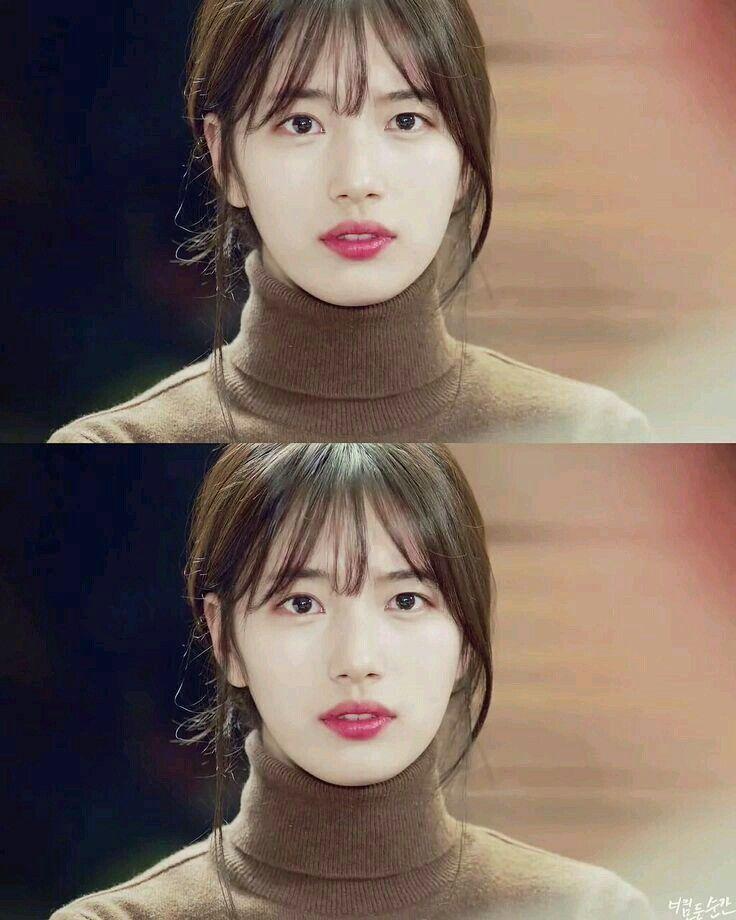 Bae Suzy Korean Bangs Hairstyle Korean Long Hair Korean Hairstyle