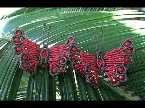 Kelebek şeması Una Titarenko tokası saç - sınıf - Video Sihirbazı - Video dizini - Makrameha