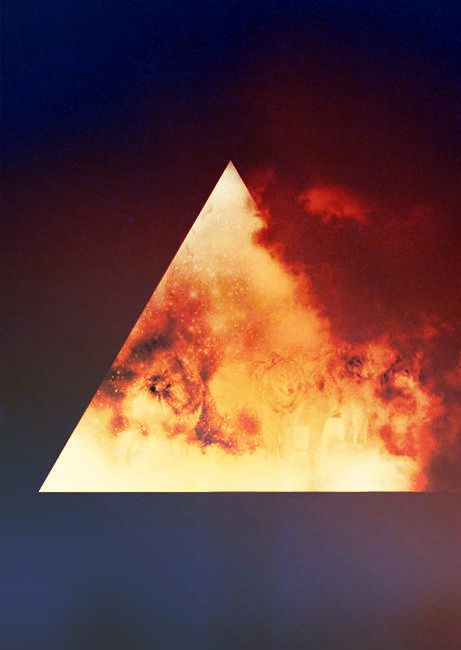 I've been very interested in triangle art recently, and this is an explosive example.