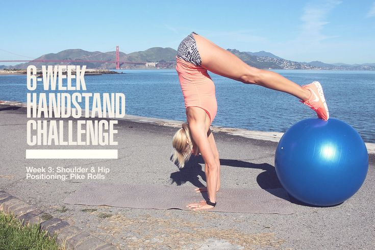 At the beginning of April, we started a brand new 6-Week Handstand Challenge.  During the next month, we're going to be working on different exercises you can do to help you build up to doing a freestanding handstand. Don't be too intimidated—it doesn't matter if you've been practicing handstands for