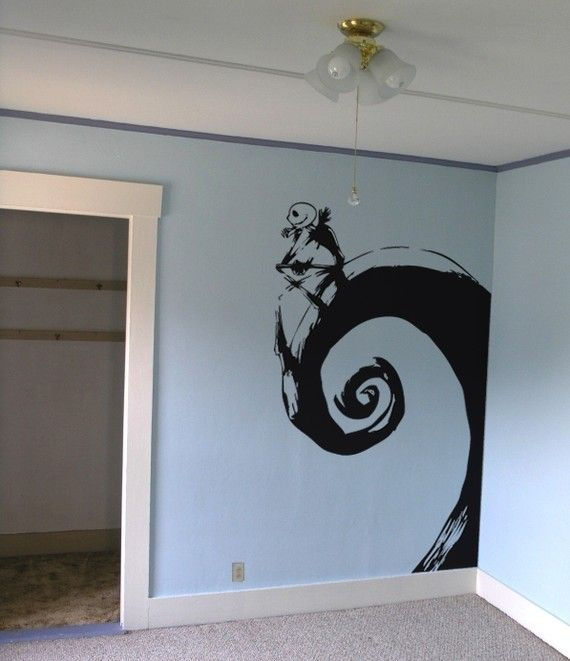 Jack Skellington Nightmare before Christmas Giant Wall Decal - If I ever have my own craft room or nook of some kind, I'd love to put this in it. :)