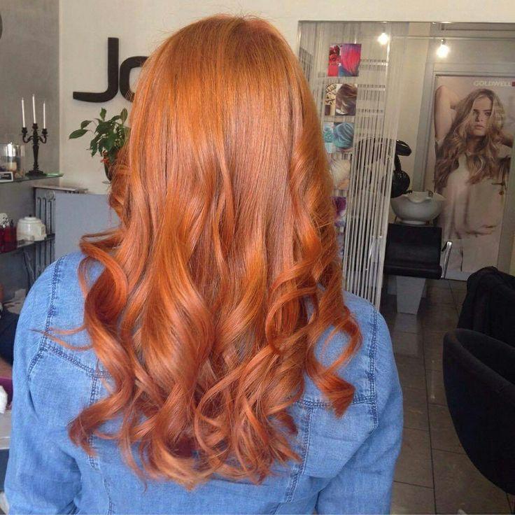 Lively Marigold 2.0 intense Red hot #hair #haircolor #hairstyle #ginger #elumen #goldwell #haircare  @joelhaircolorsalon