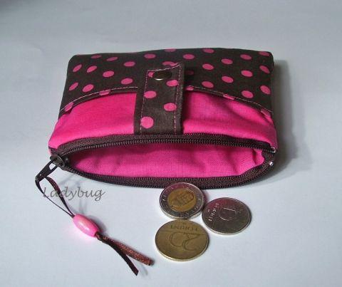 Barna-pink pénztárca / RENDELHETŐ, Táska, Neszesszer, Pénztárca, tok, tárca, Meska