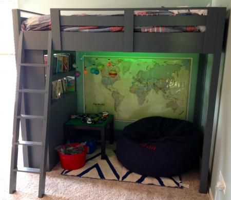 Loft Bed with Shelves | Do It Yourself Home Projects from Ana White