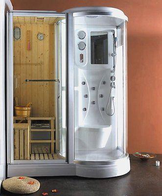 Box Doccia Idromassaggio 168x95 reversibile con Sauna Finlandese cromoterapia | eBay