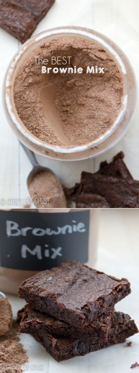 The Best Homemade Brownie Mix - 4 ingredients. ..just store in pantry until  brownies are wanted!
