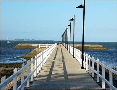 Wynnum jetty, location for our Hamptons photoshoot next week. #hildeheim
