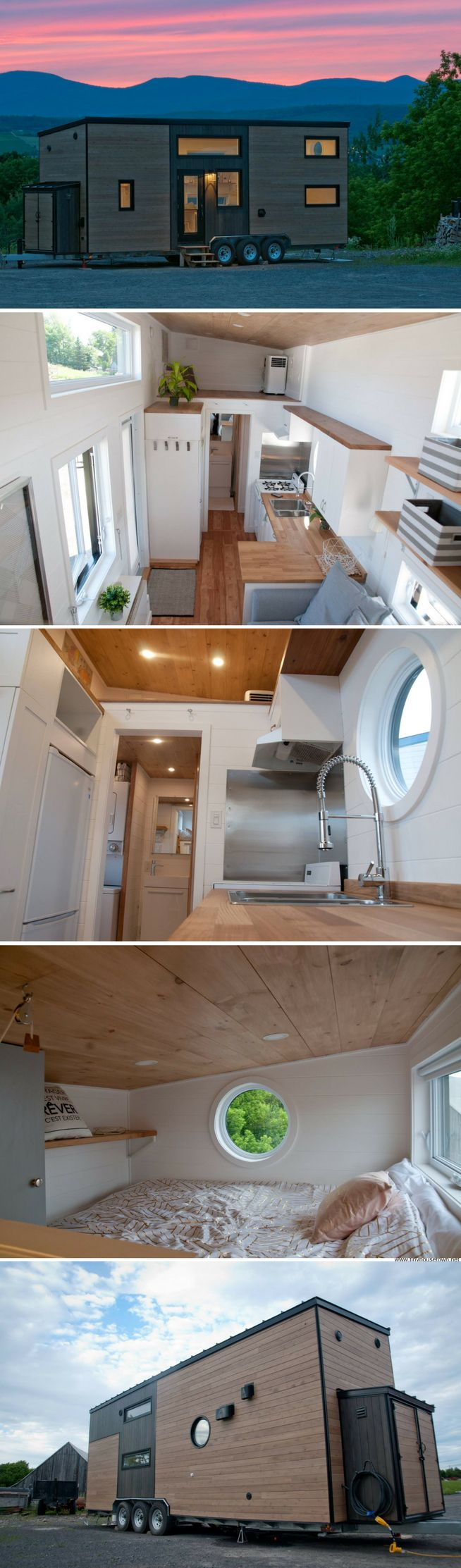 The Acacia tiny house from Mimimaliste  I like the spaces on top of cabinets etc..... can be nice storage or for plants