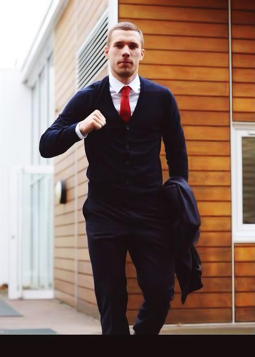Lukas Podolski - model and footballer