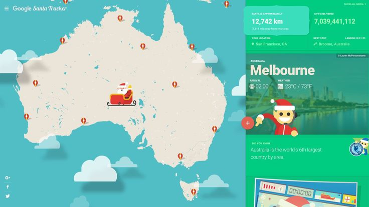 Google's Santa Tracker Will Let You Follow His Deliveries All Over the...