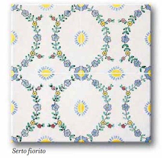Ceramica Francesco De Maio | Classico Vietri |  #ceramicafrancescodemaio | serto Fiorito