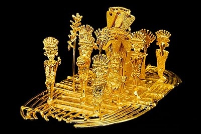 El Museo del Oro in Bogota, Colombia.    Pictures do not do the exhibitions justice in terms of their beauty. Mesmerizing.    http://www.banrepcultural.org/museo-del-oro