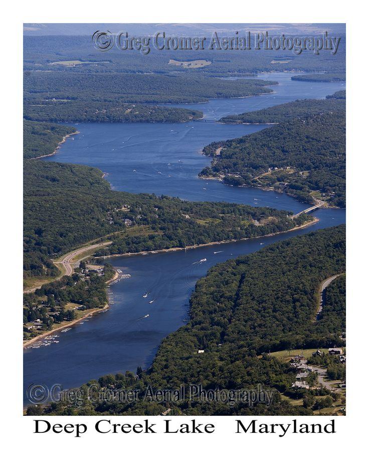 Deep Creek Lake in Garrett County, Maryland