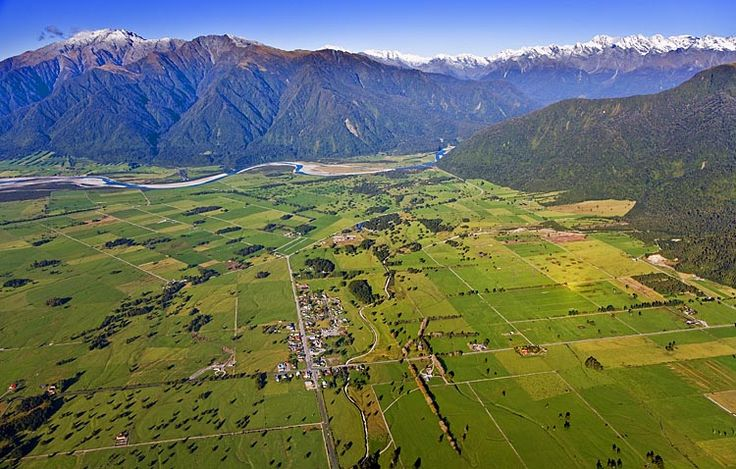 Whataroa, a dairy farming area on the west coast, see more, learn more, at New Zealand Journeys app for iPad www.gopix.co.nz
