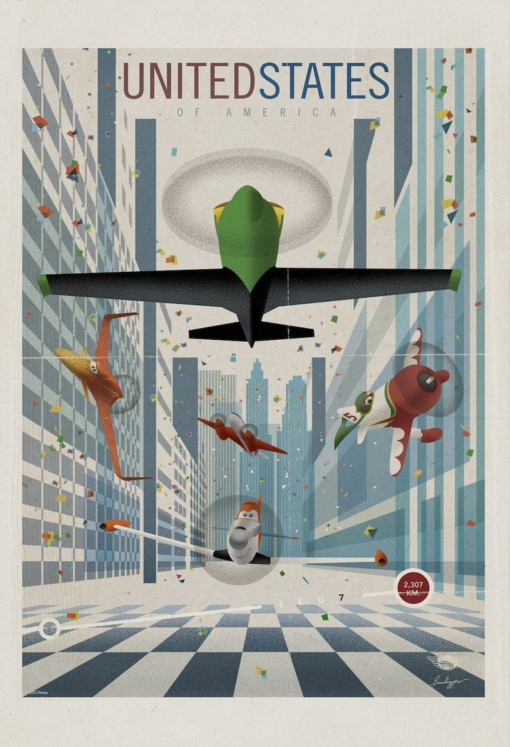 The animated film, out Aug. 9, follows a crop dusting plane with dreams of joining the globe-hopping aerial race depicted in these posters.
