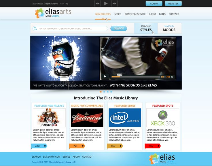 Elias Arts Music Library - Website by DecoGr@f!x
