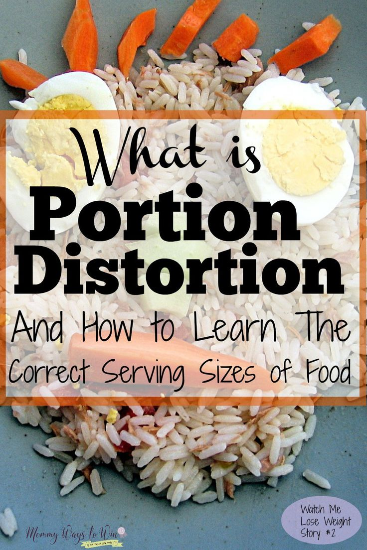 Holy moly, I'm way out of control, ugh! I had no idea just how much I do suffer from portion distortion. This story really opened my eyes. I don't even know what I was thinking when I ate those huge mounds of food.....