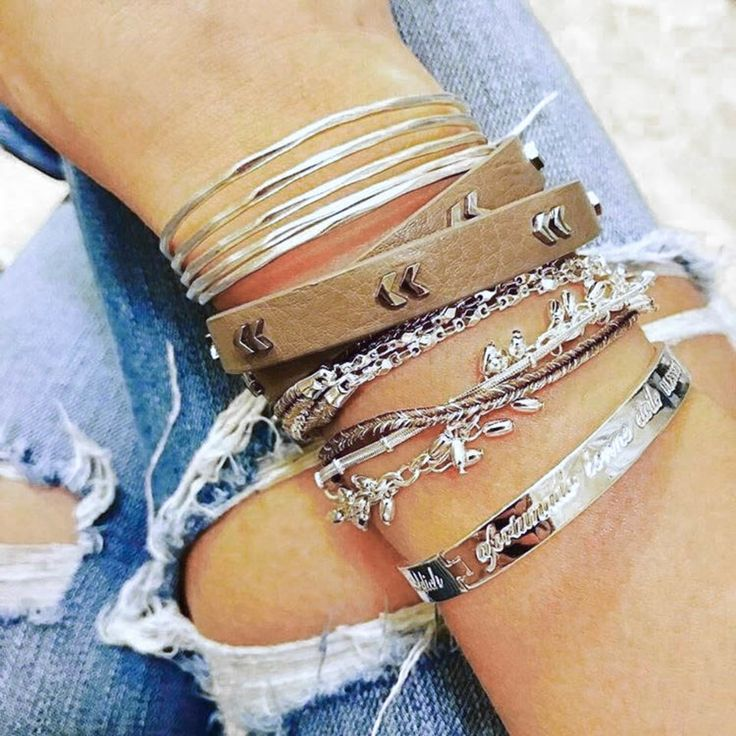 silver arm party @kimberlystellastyle