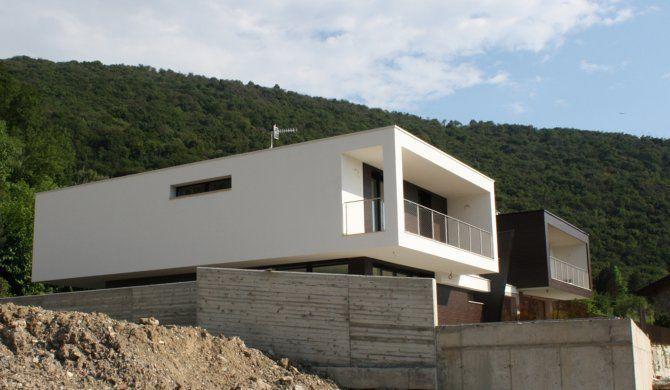 Vista esterna villa bifamiliare - progetto ville a Paratico