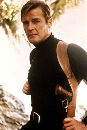 Roger Moore as James Bond 007.  Not a big RM fan but a big bore S&W trumps a PPK.