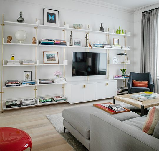 Atlas Industries AS4 Series White Lacquered Wood Shelving System · Shelving  SystemsModular ShelvingWall ...