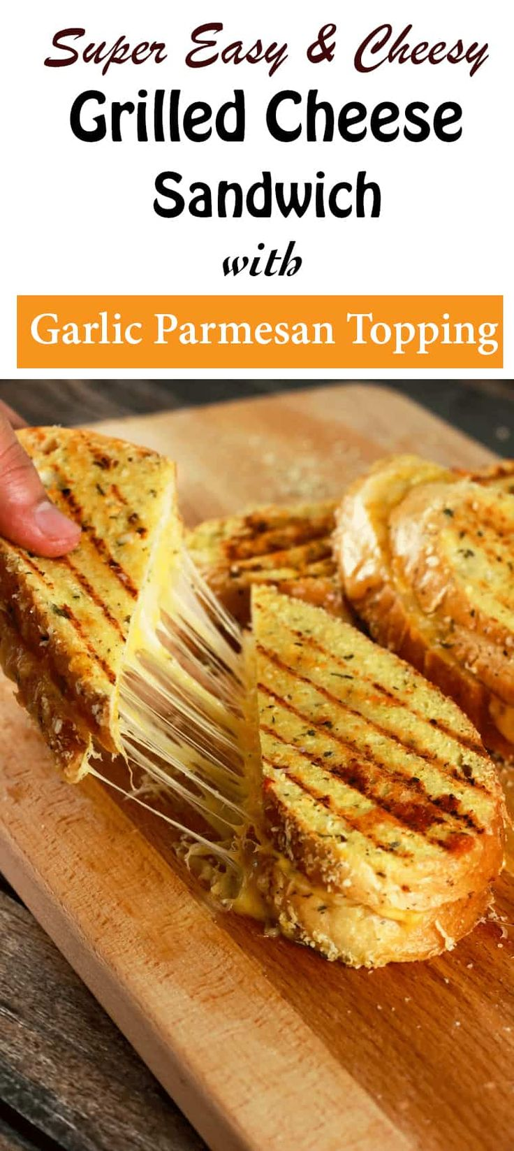 Grilled Cheese Sandwich with Garlic Parmesan Crust