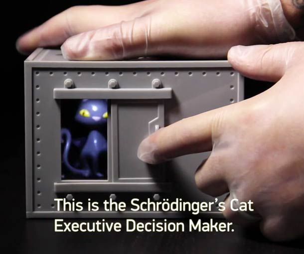Le chat de Schrodinger pour aider à prendre des décisions...