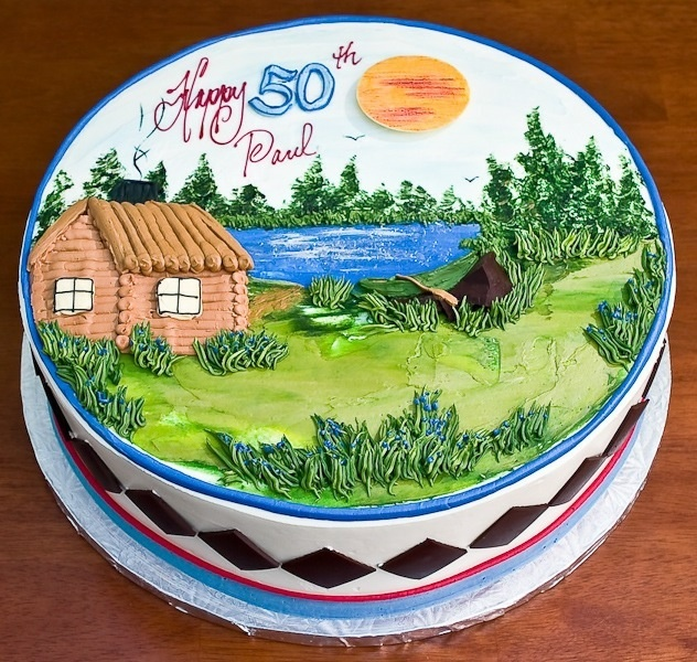 Cabin On The Lake Cake