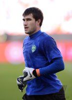 FUSSBALL INTERNATIONAL: Torwart Ignatiy NESTEROV (Usbekistan)