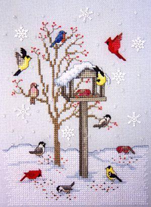 Winter Bird Feeder by Crossed Wings