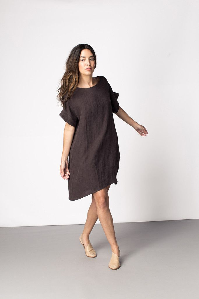 Georgia Dress - use Lou Box Top pattern but go up 2 sizes
