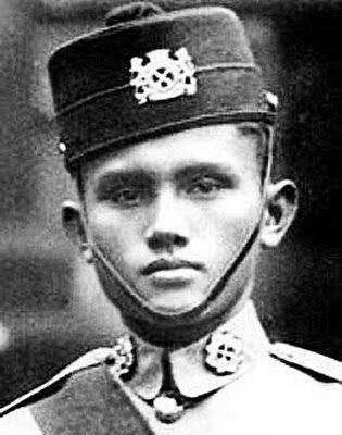 Lt Adnan. Hero of Bukit Chandu battle in Singapore.Malay Regiment. Malaya 1942