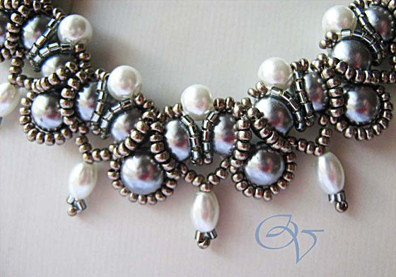 """Free tutorial by diagram Necklace """"the anniversary."""""""