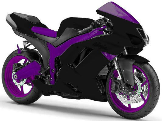 This is insane. Purple Motorcycle ♥ if someone bought me this I would so learn to ride lol.