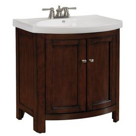 allen   roth�Moravia 23.5-in x 18-in Sable Integral Single Sink Bathroom Vanity with Vitreous China Top