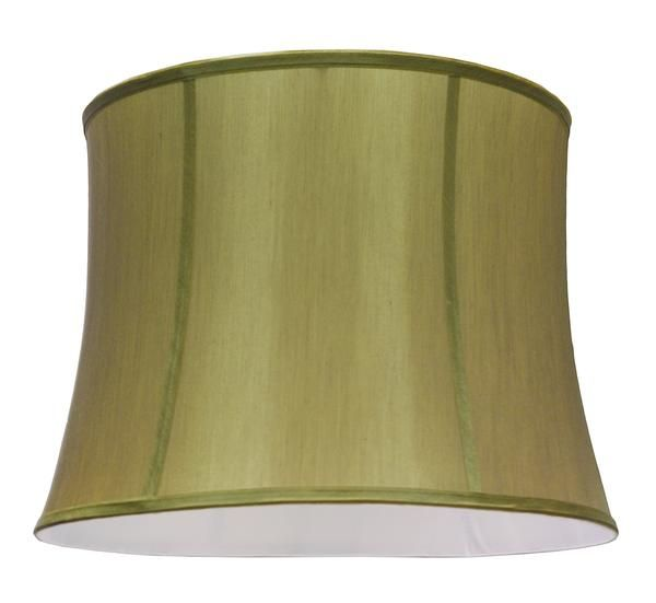 """# 30021 Transitional Bell Shape Spider Construction Lamp Shade in Gold Taupe Faux Silk Fabric, 16"""" wide (14"""" x 16"""" x 12"""")"""