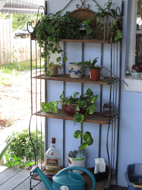 Garden Bakers Rack, May Have To Do This With My Bakers Rack, Its Falling