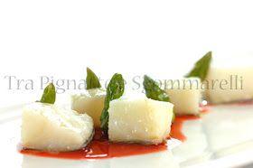 Tra Pignatte e Sgommarelli: Le mie ricette - Baccalà in vaso cottura a bassa temperatura, con asparagi e riduzione di arancia rossa e menta
