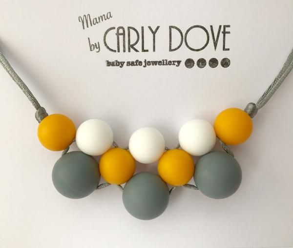 Silicone teething necklace: Orla pop cluster – Carly Dove Boutique