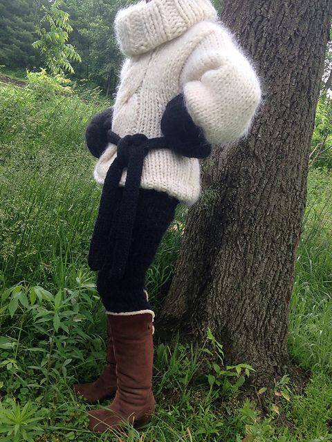 Black Accessories In White Mohair Mmmmm Another Timothy