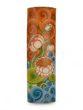 Lotus Bamboo Mural Painting-Wall Art