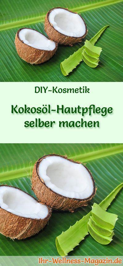 Make coconut oil skin care yourself - Recipe & Instructions - #Instructions #Hautpflege ...  -  Hautpflege-Rezepte