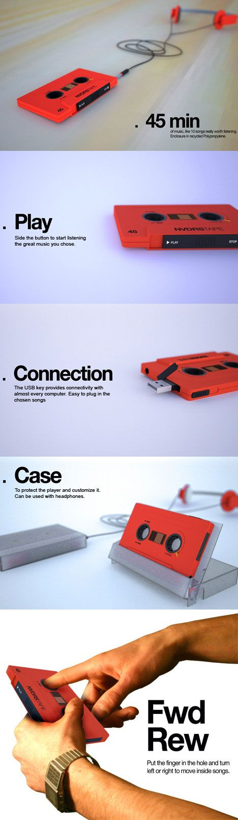 cassette tape mp3 player. This is the coolest thing!!!