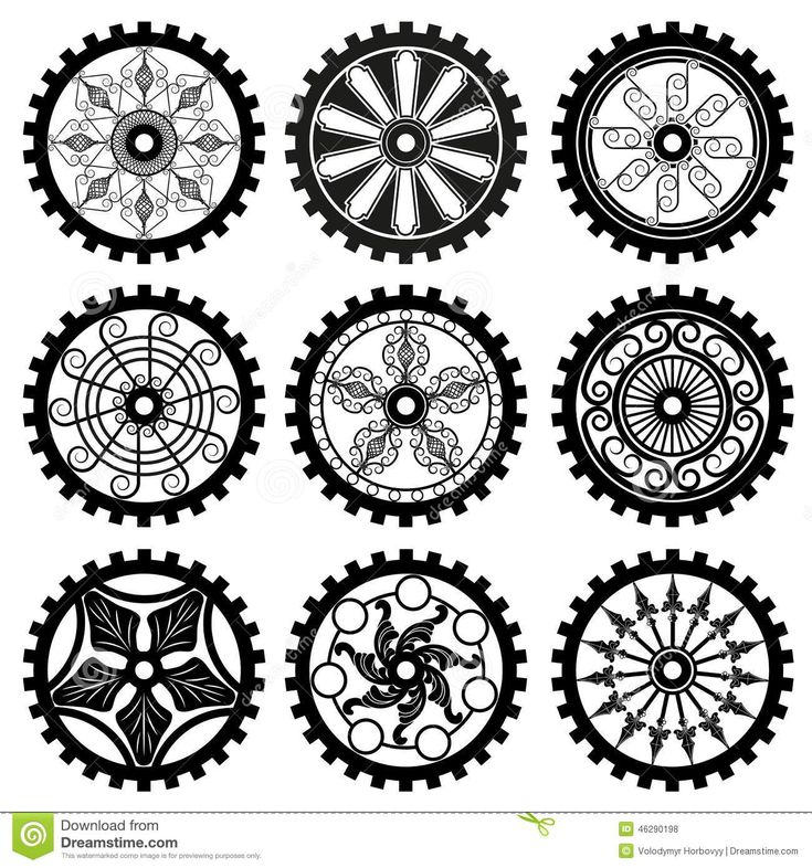 745 best Gears, Clocks, Keys Silhouettes, Vectors, Clipart ...
