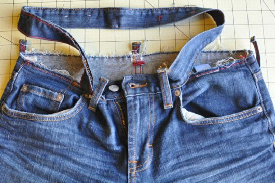 madmim adding width to a waistband 11 Altering Jeans // adding width to a waistband