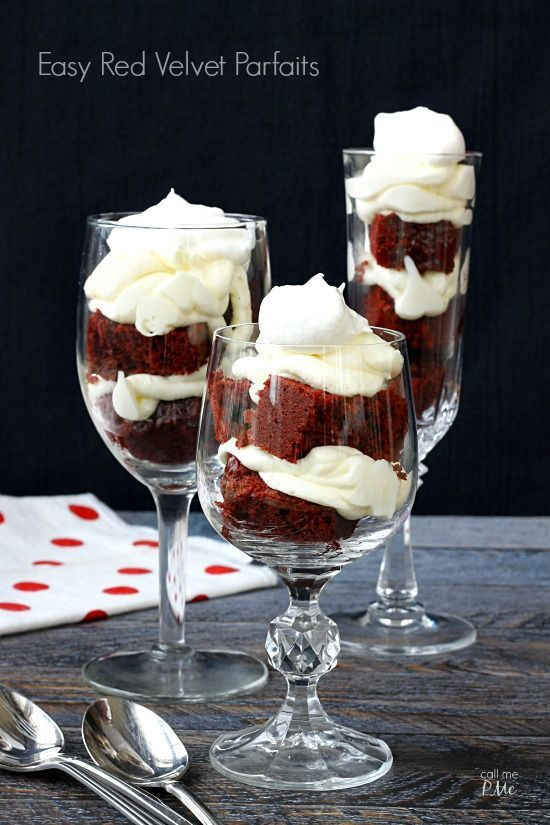 Red Velvet Parfaits Recipe turns the classic favorite into a show-stopping presentation for entertaining. Parfaits are also good for cake disasters too!