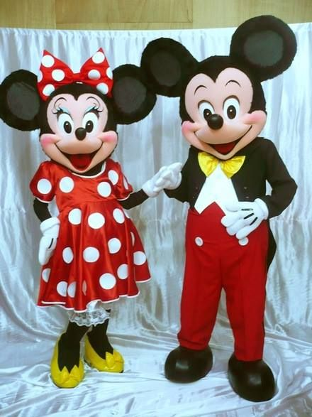 Mickey y Minnie Muñecones